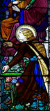 Mary Magdalene in stained glass Royalty Free Stock Image