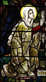 Mary Magdalene in stained glass Stock Photo