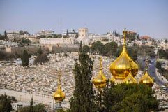 Mary Magdalenes katedra Prawos?awny Gethsemane klasztor zdjęcia stock
