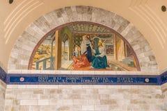 Mary, Martha och Jesus arkivbilder