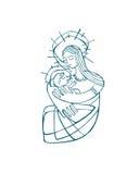 Mary matki b ilustracja wektor