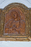 Mary medieval bas relief Royalty Free Stock Photos