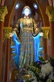 Mary (moder av Jesus) på Roman Catholic Diocese Arkivbild
