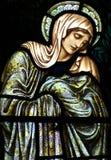Mary moder av Jesus som sörjer Arkivfoto