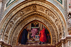 Mary Mosaic Duomo Cathedral Florence Italy Stock Photography