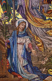 Mary mosaic Stock Photo