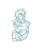 Mary Mother b Royalty Free Stock Photo