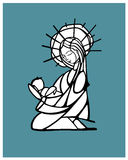 Mary Mother d illustration stock