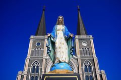 Mary,Mother of God,Blessed Virgin Mary. At Chantaburi Thailand Stock Image