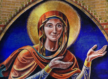 Mary, the mother of Jesus. A painting of Mary, the mother of Jesus Royalty Free Stock Image