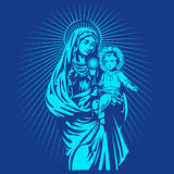 Mary mother of jesus. Saint mary ,mary mother of god ,holy mary ,the virgin mary ,mary immaculate ,mary illustration Royalty Free Stock Photo