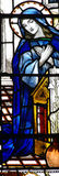 Mary (mother of Jesus). A stained glass photo of Mary royalty free stock photo