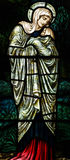 Mary (mother of Jesus) in stained glass Stock Photos