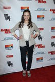 Mary Mouser. LOS ANGELES - FEB 15:  Mary Mouser arrives at the RADIO REBEL Telefilm Premiere at the AMC CityWalk Stadium 19 on February 15, 2012 in Los Angeles Royalty Free Stock Image