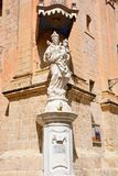 Mary och Jesus staty, Mdina Arkivbild