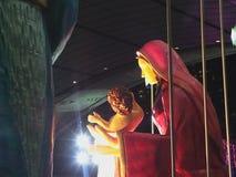 Mary och spädbarn Jesus Arkivfoton