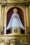 mary oskuld Den heliga veckan i Spanien, föreställer bilder av oskulder och royaltyfria foton