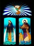 Mary Our Lady Divine Grace de goede Sheperd-Heilige Geestduif stock foto