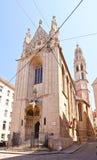 Mary på kustkyrkan (1414). Wien Österrike Royaltyfria Bilder
