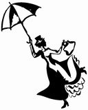 Mary Poppins Stock Abbildung