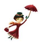 Mary Poppins vector illustratie