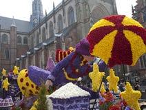 Mary poppins met bloemen bij bloemparade Royalty-vrije Stock Fotografie