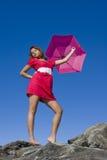 Mary Poppins nel colore rosa Immagini Stock Libere da Diritti