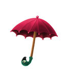 Mary Poppins umbrella. Isolated on a white background Royalty Free Stock Photography