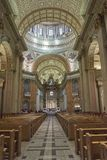 Cathedral interior Montreal front view royalty free stock image