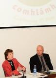 Mary Robinson en NIALL Crowley royalty-vrije stock foto's