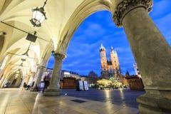 Mary`s Church and Cloth Hall, Krakow, Poland Royalty Free Stock Photos