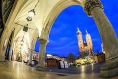 Mary`s Church and Cloth Hall, Krakow, Poland Royalty Free Stock Images