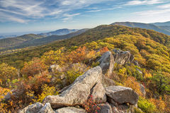 Mary's rock, shenandoah, in Autumn Stock Photos