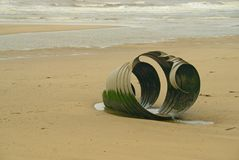 Mary`s shell on Cleveley`s beach. stock images