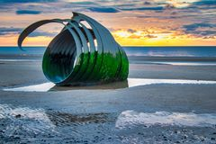 Mary`s Shell early sunset royalty free stock image