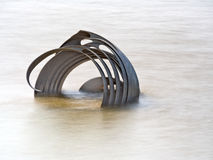 Mary's Shell sculpture at high tide Stock Image