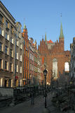 Mary's Street in Gdansk Stock Image
