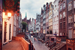 Mary's Street in Gdansk Royalty Free Stock Images