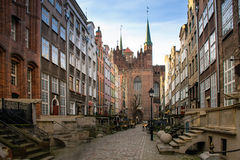 Mary's Street in Gdansk 2 Royalty Free Stock Images