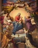Mary sainte dans le Heawen Photos stock