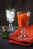 Mary sanglante Cocktail rouge avec de la glace Images libres de droits