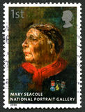 Mary Seacole UK Postage Stamp. GREAT BRITAIN - CIRCA 2006: A used postage stamp from the UK, depicting a portrait painting of famous nurse Mary Seacole which is Stock Photos