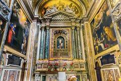 Mary Shrine Santa Maria Della Pace Church Basilica Rome Italy. Mary Shrine Christian Paintings Santa Maria Della Pace Church Basilica Rome Italy.  Church built Royalty Free Stock Photography