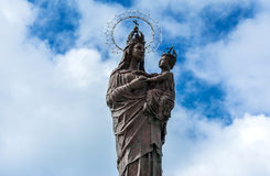 Mary star of the sea statue in Trapani, Italy Stock Image