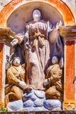 Mary Statue Santa Maria Church Obidos Portogallo Fotografie Stock