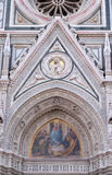 Mary surrounded by Florentine Artists, Merchants and Humanists, Portal of Florence Cathedral Royalty Free Stock Photography