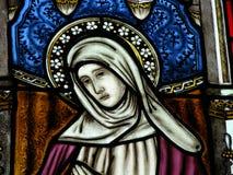 Mary szkła oznaczony przez okno Zdjęcia Royalty Free