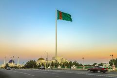 Mary Turkmenistan Flag 02 royalty-vrije stock afbeeldingen