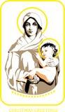Mary und Jesus Stockbilder