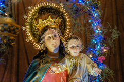 Mary und Jesus stockfoto